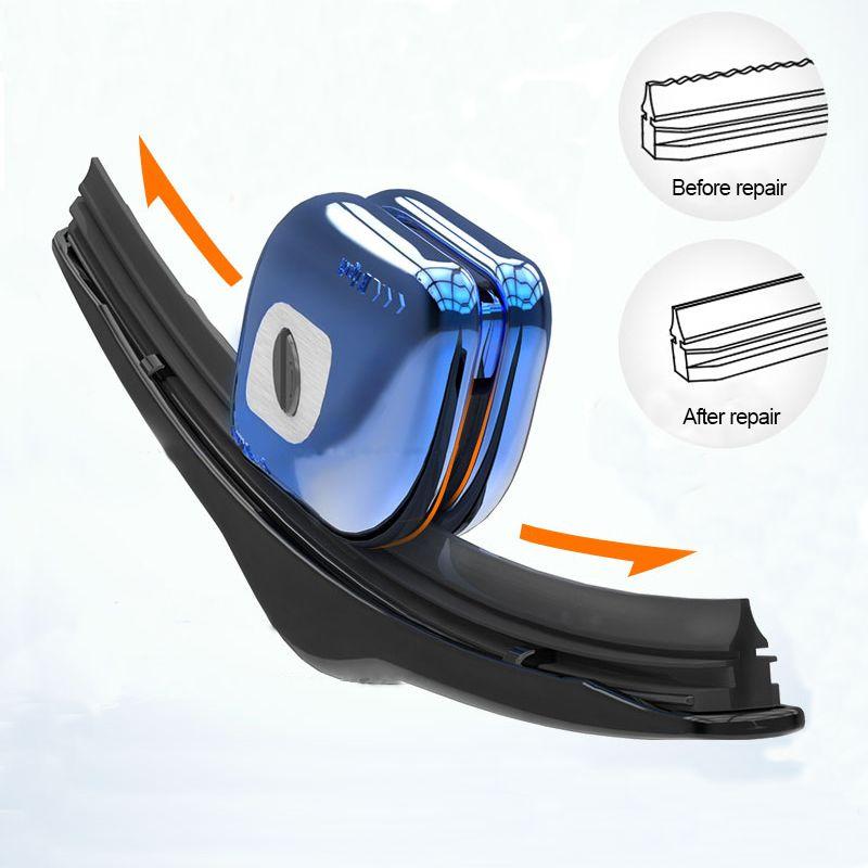 Car Wiper Repair Tool Windshield Rubber Strip Windscreen Blade Restorer With Keychain Boneless Wiper For Car-styling Accessories