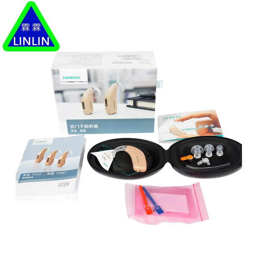 LINLIN hearing aids Lotus 12P BTE Powerful Hearing Aid/Wireless Old People Authentic SIEMENS wireless ear back Agile P