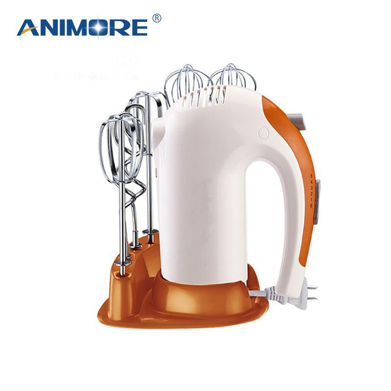 ANIMORE 5 Speed Dough Hand Mixer Egg Beater Food Blender Multifunctional Food Processor Ultra Power Electric Kitchen Mixer FM-04
