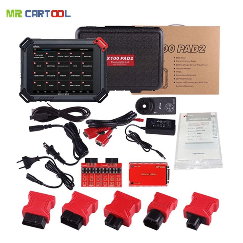 XTOOL X100 PAD2 Pro Auto Schlüssel Programmierer Key Code Reader Wifi Bluetooth Diagnose Werkzeug Mit VW 4th 5th IMMO Kilometerzähler einstellung