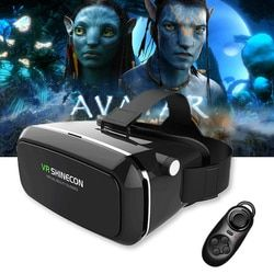 Original VR Shinecon Pro Virtual Reality 3D Glasses VR Google Cardboard Headset Box Head Mount for Smartphone 4-6' Mobile Phone