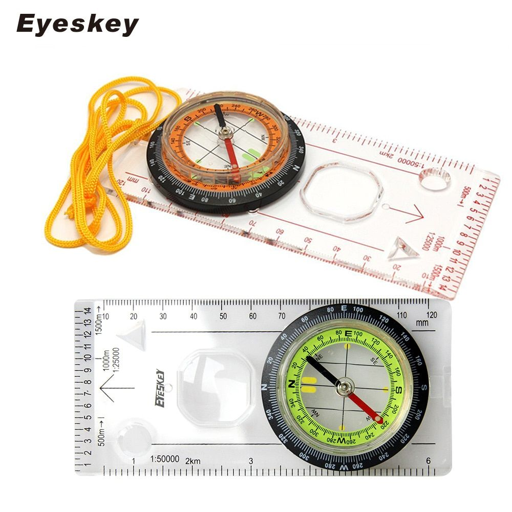 Eyeskey Camping En Plein Air Directionnelle Cross-Country Course Randonnée Boussole Spéciale Plaque de Base Ruler Map Scale Compass Nuit bussola