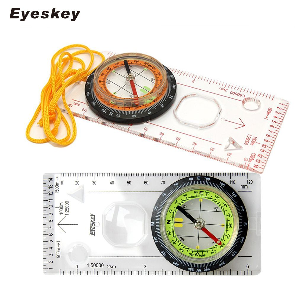 Eyeskey Outdoor Camping Directional Cross-country Race Hiking Special Compass Baseplate Ruler Map Scale Compass Night bussola
