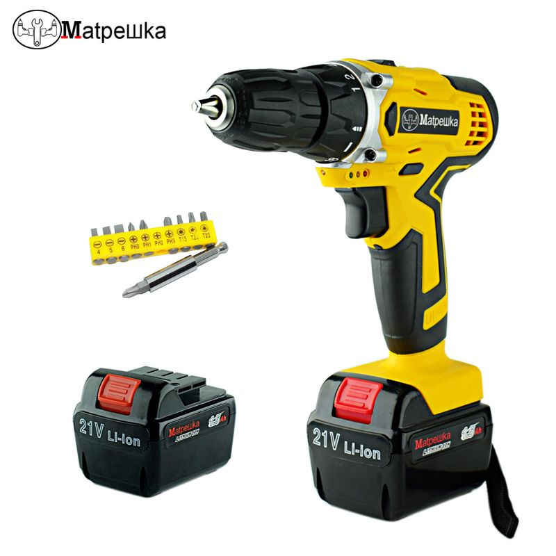 21V Professional Mini Cordless Electric Screwdriver <font><b>Rechargeable</b></font> Lithium-ion Battery Electric Electric Drill Power Tools