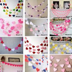 1 m Handmade 12 Warna Colorful Jantung Anak Hiasan Dinding Ruang Kertas Garland banner Pernikahan Dekorasi Pesta Alat Peraga Dekorasi