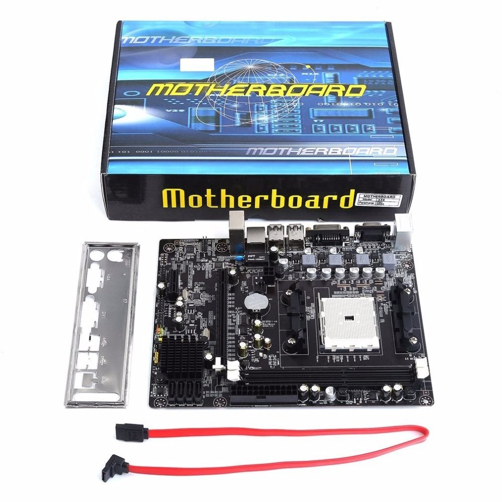 A55 Desktop Motherboard Supports For Gigabyte GA A55 S3P A55-S3P DDR3 Socket FM1 Gigabit Ethernet Mainboard