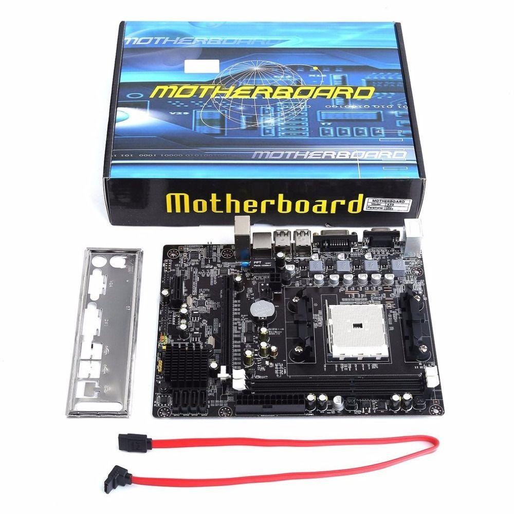 A55 Desktop-Motherboard Unterstützt Für Gigabyte GA A55 S3P A55-S3P DDR3 Sockel FM1 Gigabit Ethernet Mainboard