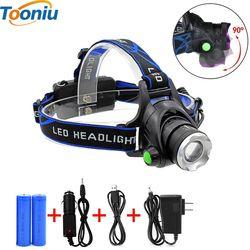 RU 5000LM Cree XML-L2 XM-L T6 Led del Faro de Zoomable Impermeable Linterna Frontal linterna Cabeza de la lámpara de Pesca Luz de La Caza