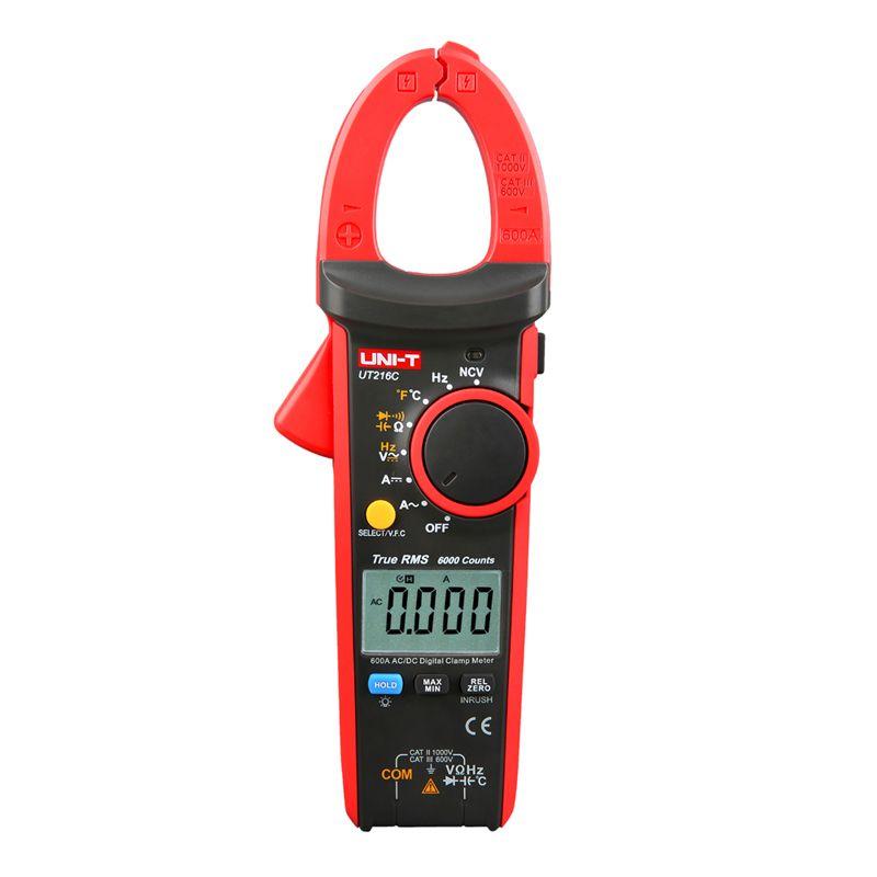 UNI-T UT216C 600A True RMS Digital Clamp Meters Auto Range Multimeters Frequency Capacitance Temperature & NCV Test Megohmmeter