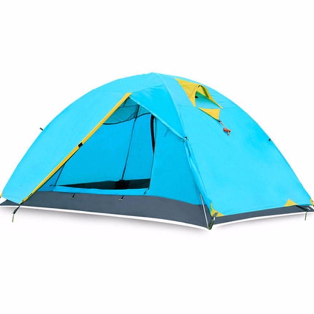Neue Zwei Personen Zelt Double Wand Ausmaß Outdoor Wandern Rucksack Camping Zelt Kostenloser Versand