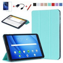 Original Case For Samsung Galaxy Tab A a6 10.1 2016 T585 T580 SM-T580 T580N Smart Case Cover PU Leather Funda Tablet+Film+Pen