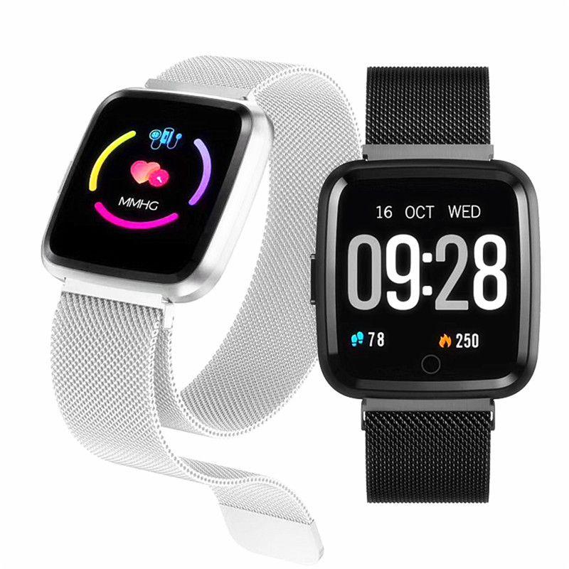 Montre intelligente Q3 hommes étanche dynamique tension artérielle oxygène podomètre fitness tracker bande fréquence cardiaque smartwatch F17 Bracelet