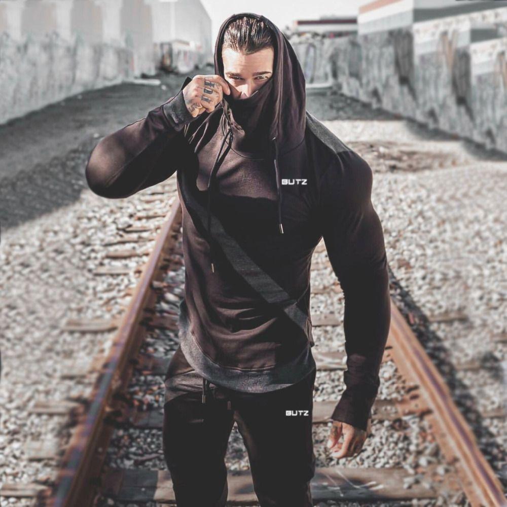 2019 neue Druck Männer Sport Set Herbst Trainingsanzug langarm Hoodie Sweatshirt Fitness Hosen Training Läuft Anzug