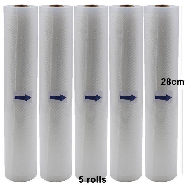 Sacs de Machine de cachetage de sac de vide pour le sac de Grain de Machine d'emballage sous vide pour 5 rouleaux/lot 28 cm * 500 cm