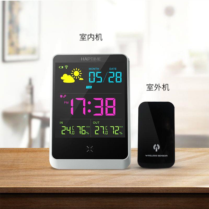 Station Météo sans fil Maison Intelligente Couleur LED Numérique Prévisions Météo Compteur En Plein Air Thermomètre Hygromètre Snooze Horloge