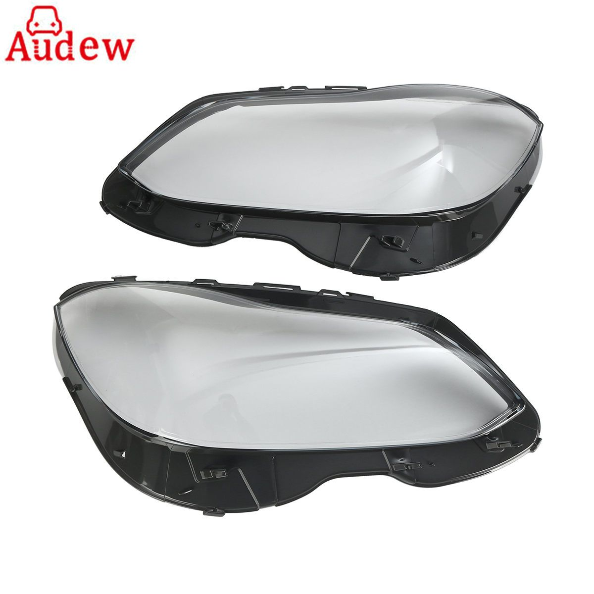 1Pair Car Front Headlight Headlamp Lens Plastic Covers Clear Lens For Mercedes-Benz E W212 Facelift QT