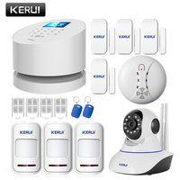 KERUI Android IOS приложение дистанционное управление Wi-Fi GSM PSTN три в одном дома охранной сигнализации системы высокое качество gsm сигнализация