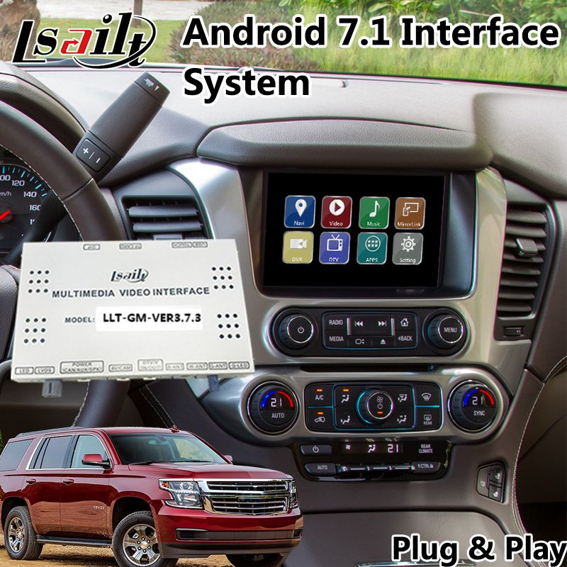 Android 7.1 GPS Navigation für Chevrolet Tahoe/Suburban MyLink System 2014-2019, Multimedia Video Interface