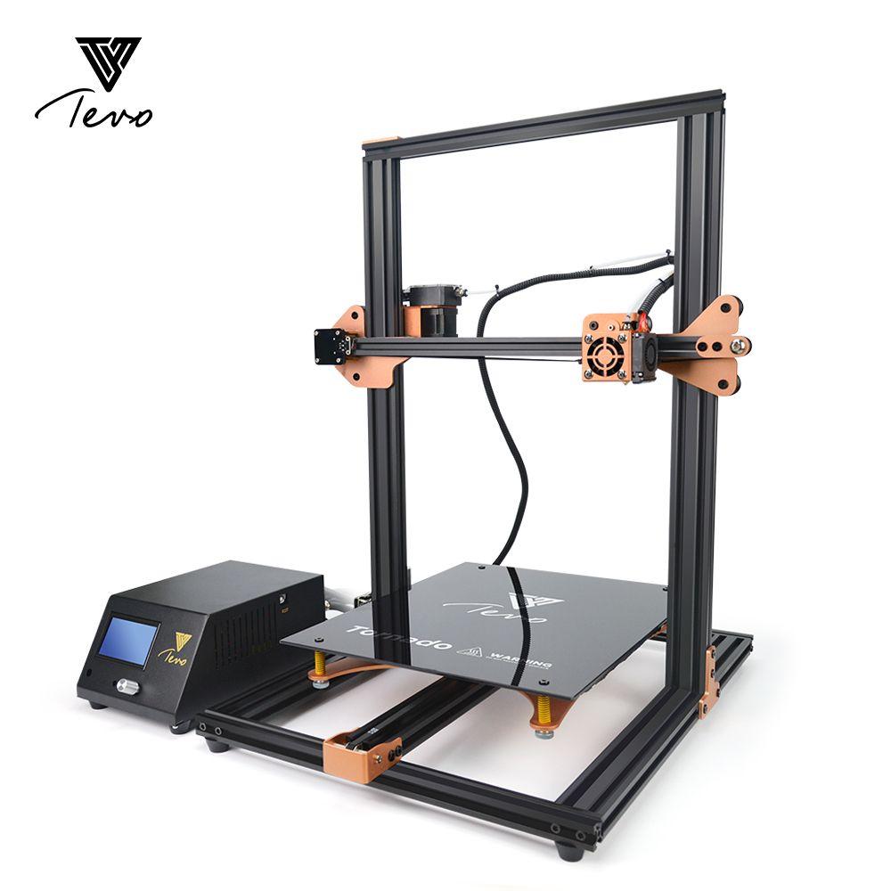 2017 TEVO Tornado 95% Assembled Aluminium Extrusion 3D Printer High Quality impresora 3d printer With Titan Extruder Main Board