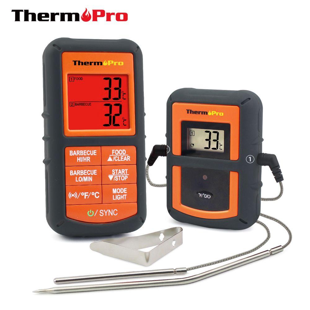 ThermoPro TP-08 100 M À Distance Sans Fil Alimentaire Cuisine Thermomètre Double Sonde Pour BARBECUE, fumeur, Grill, four, viande Avec Minuterie