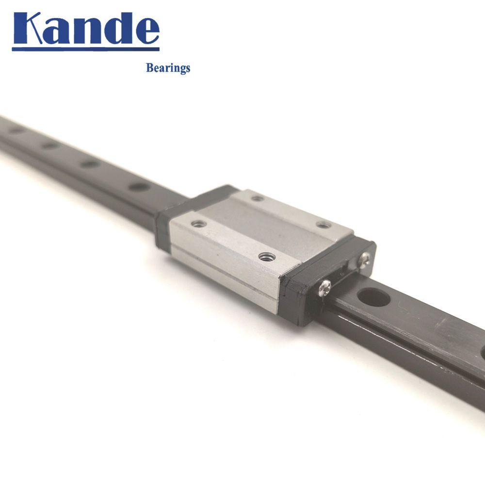 Acier inoxydable 440C MGN9 MGN12 MGN15 Mini Guide linéaire MGN12C/H L100-800mm Guide noirci pièces de CNC accessoires d'imprimante 3D