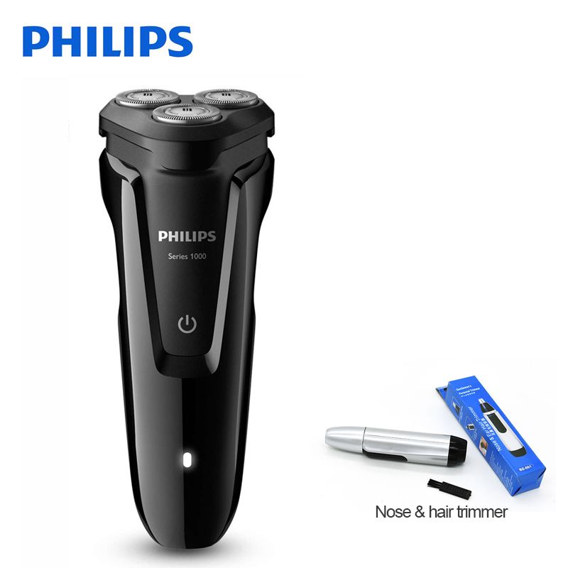 100% Genuine Philips Electric Shaver S1010 Rotary Rechargeable Washable With Three Floating Heads For Men's Electric Razor