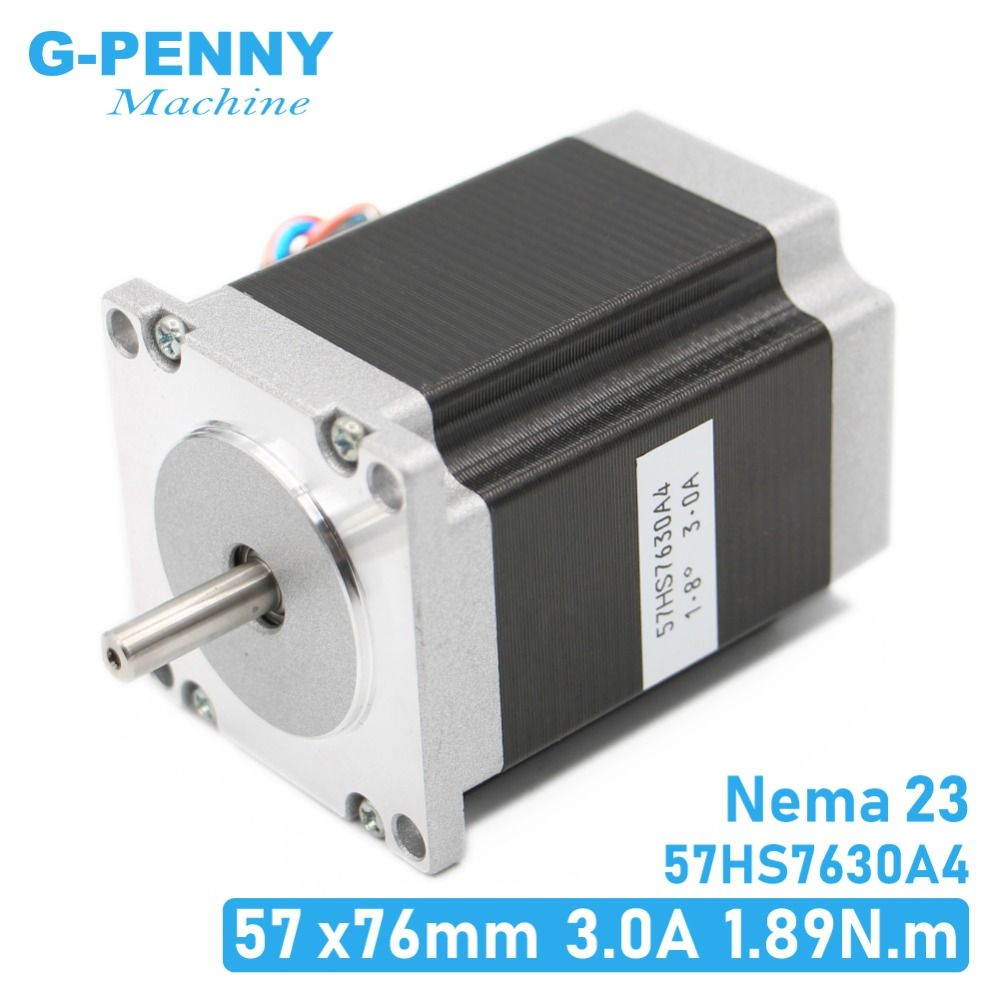NEMA23 CNC moteur pas à pas 57 x76mm1.89N. m 4 fils 1.8deg/Nema 23 moteur 3A 270Oz-in pour machine à CNC et imprimante 3D! Haute qualité