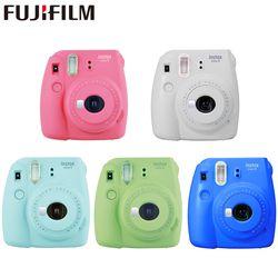 Fujifilm Instax Mini 9 Instant fuji Camera Film Photo Camera Pop-up Lens Auto Metering Mini Camera with Strap 5 Colors Cute Gift