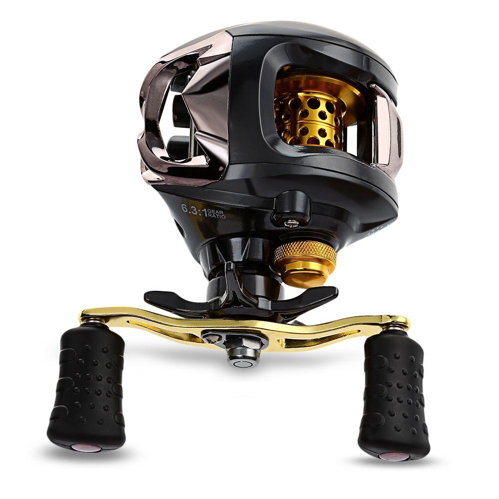 Right / Left Hand 12 + 1 Ball Bearings 6.3:1 Gear Ratio Fishing Reel Bait Casting Reel Magnetic Braking System Fishing Reels