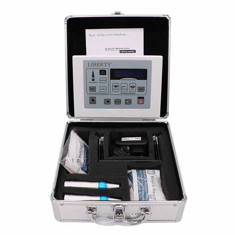 Liberty Tattoo Machine dermographe maquillage Digital Permanent Makeup machine foot switch Cosmetic tattoo kit tattoo needle