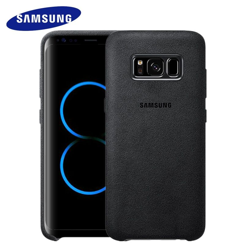 Samsung S8 S8 plus 100% Original Case cover for s8 g9550 9500 phone shell Suede all-inclusive Anti-fall leather luxury case s8
