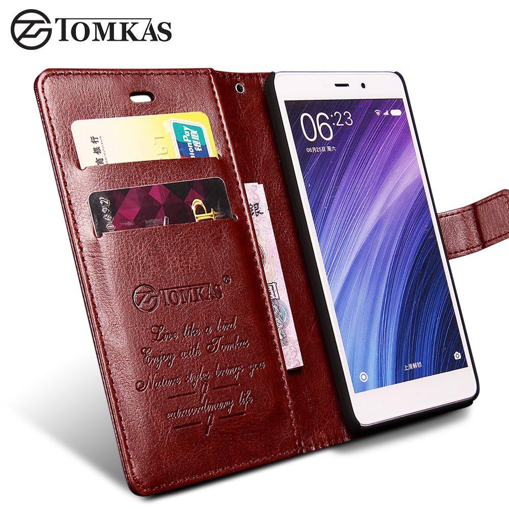 TOMKAS Xiaomi Redmi 4 Pro Cas Redmi 4 Couvercle Rabattable Portefeuille PU Sac de Téléphone en cuir Cas Pour Xiaomi Redmi 4 Pro Premier D'affaires Couverture