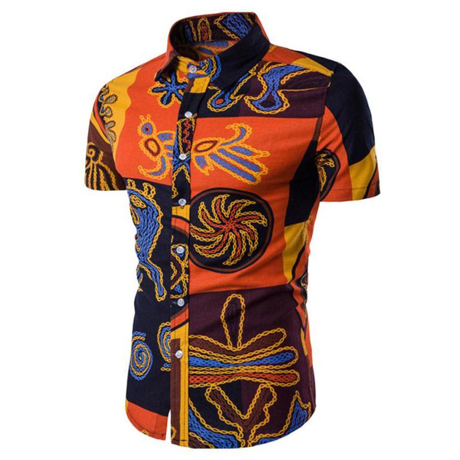 MUQGEW Mens Hawaii Shirt For Summer Beach Leisure Fashion Cotton Tropical Seaside Short Sleeve Shirts Men 2018 New Casual Shirt