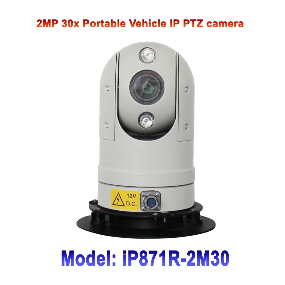 30x Optical Zoom 2MP Shakeproof Mobile Mini Portable IP 1080P Car Bus Vehicle Mounted PTZ Camera For law enforcement Project