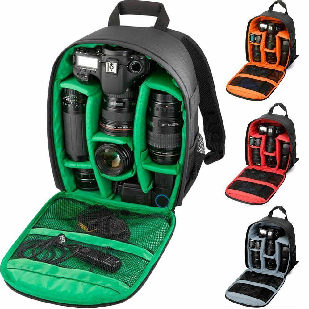 CUJMH multi-fonctionnel caméra sac à dos vidéo numérique DSLR sac étanche extérieur caméra sac étui pour Nikon pour Canon