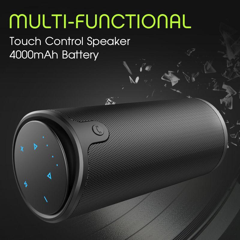 Zélot S8 Portable sans fil Bluetooth haut-parleur contrôle tactile Sport vélo HiFi stéréo voiture colonne Subwoofer Support TF carte AUX