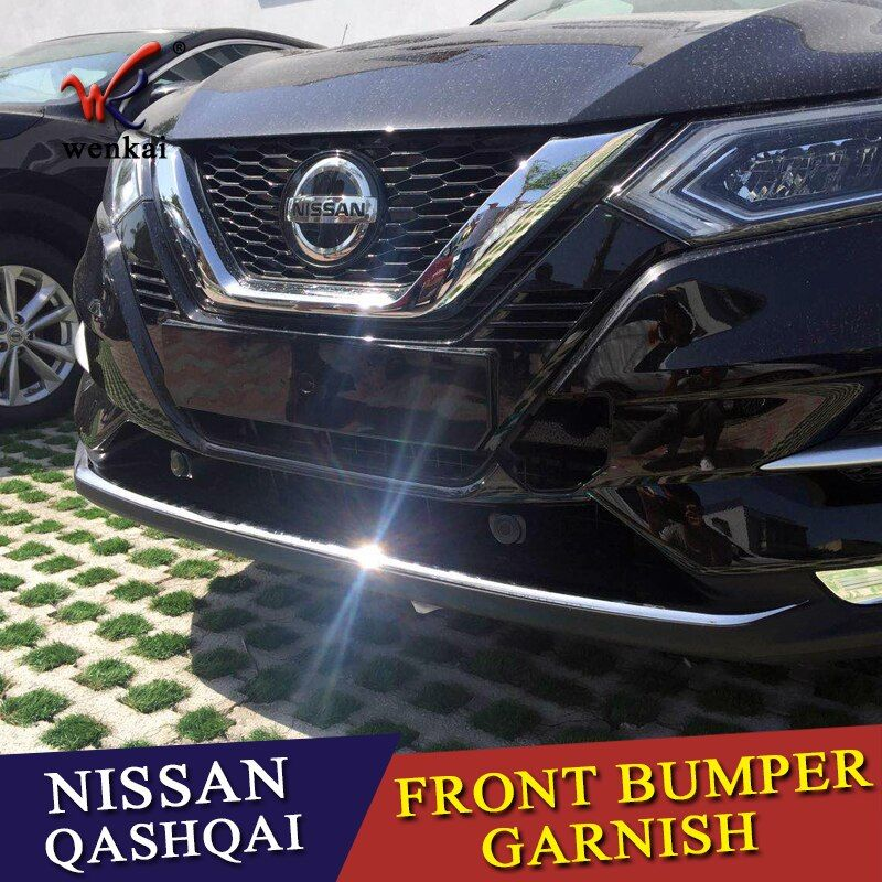 ACCESSORIES FIT FOR NISSAN QASHQAI J11 2017-18 CHROME FRONT BUMPER PROTECTOR LIP SPOILER COVER TRIM MOLDING GARNISH GUARD GRILLE
