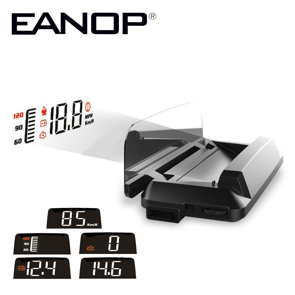 EANOP Car HUD Mirror HUD M3 Head Up display OBD2 Windshield Projector Speedometer Alarm For Peugeot 307 Renault AUDI bmw e46
