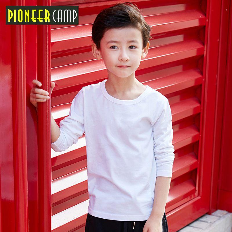 Pioneer Camp Kids 4-14 T printemps automne 2017 T-shirt à manches longues pour fille rayure garçons t-shirts garçon chemise hauts vêtements pour enfants