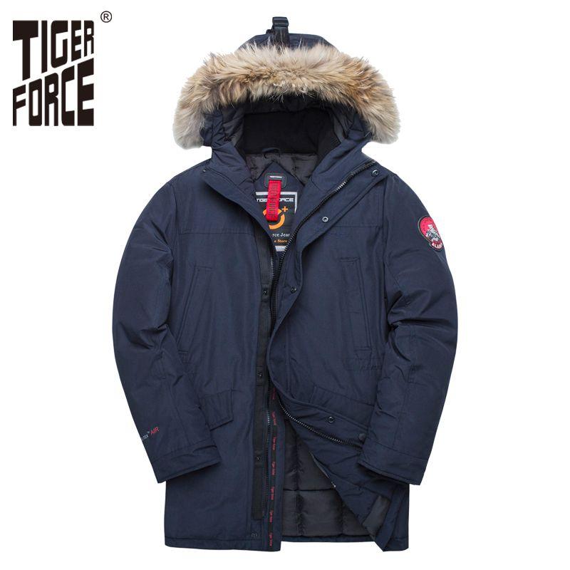 TIGER KRAFT Winter Jacke für Männer Parka Wasserdichte Warme Mantel Alaska Jacken mit Echtpelz Haube Dicken Männlichen Snowjacket Outwear
