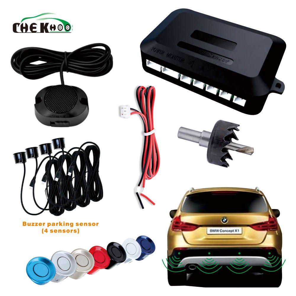 Vibreur automatique de Parktronic de capteur de stationnement de voiture avec 4 capteurs de recul de véhicule