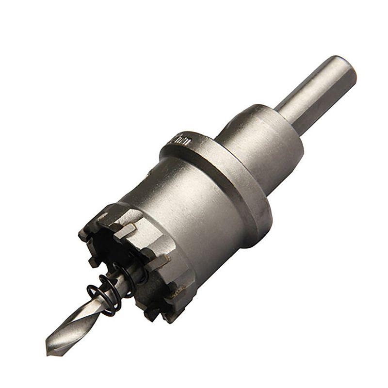 1 pc 15-75mm Core Foret Scie En Métal Forage Brocas Dur Alliage Tige Droite Forets pour le Métal De Coupe Des Outils Électriques
