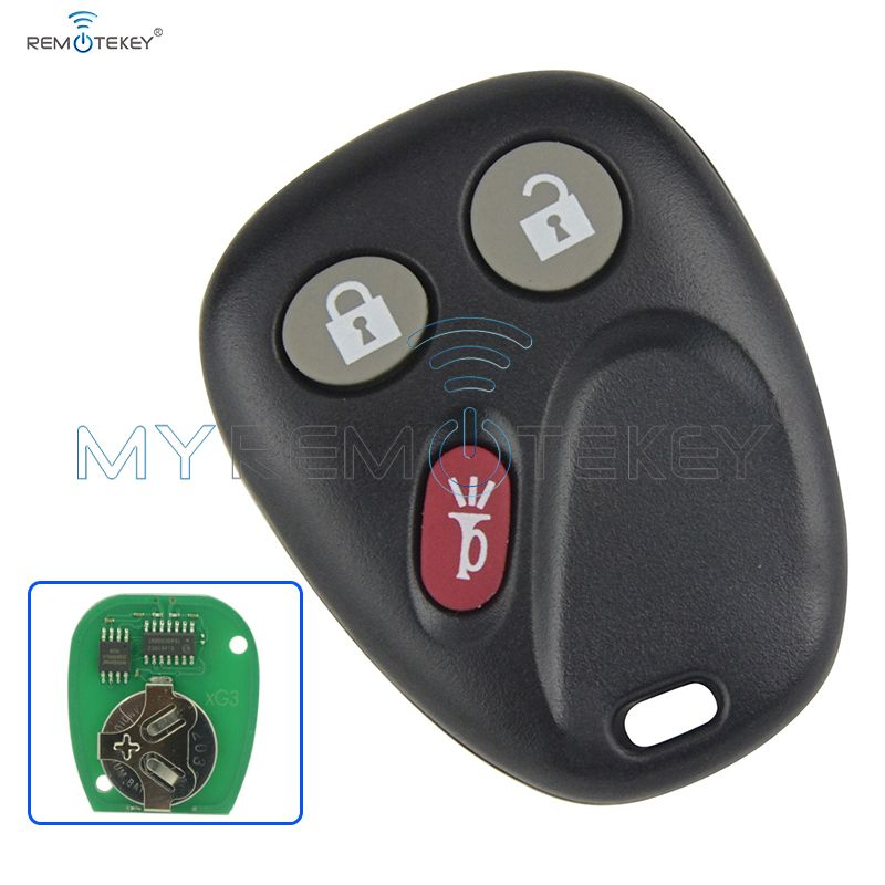 Remote Car Key Fob for GM Hummer H2 Chevrolet Avalanche Cadillac Escalade 3 Button 315mhz LHJ011 2003 2004 2005 2006 remtekey