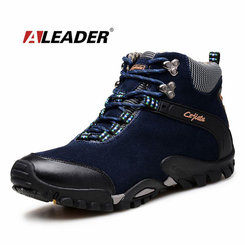 Bottes d'hiver en cuir pour hommes chaussures de neige chaudes 2016 bottines en daim chaussures Outoor bottes de neige chaussures de fourrure pour hommes Bota Masculina Sapatos