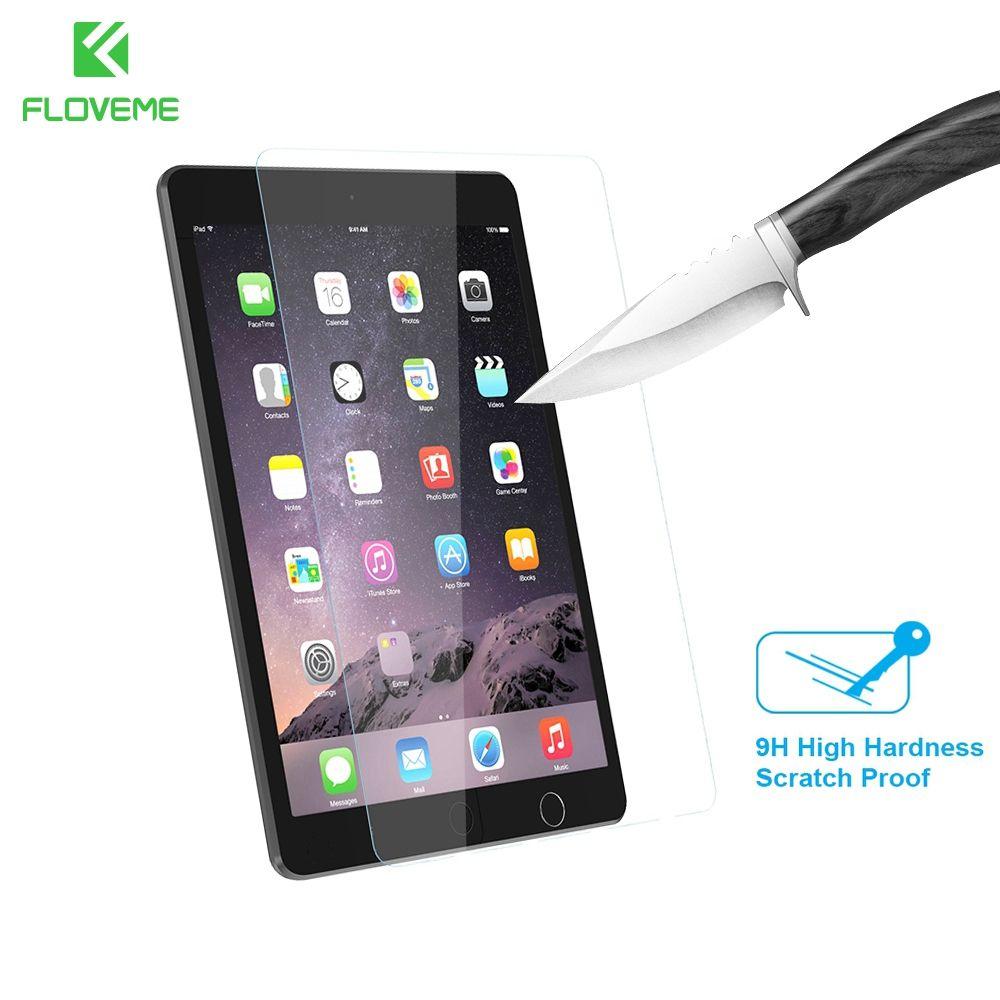 FLOVEME Gehärtetem Glas Film Für Apple iPad 9,7 zoll Displayschutzfolie Für iPad Air 1 2 Pro 9,7 2017 Ultradünne 9 H 2.5D Glas Film