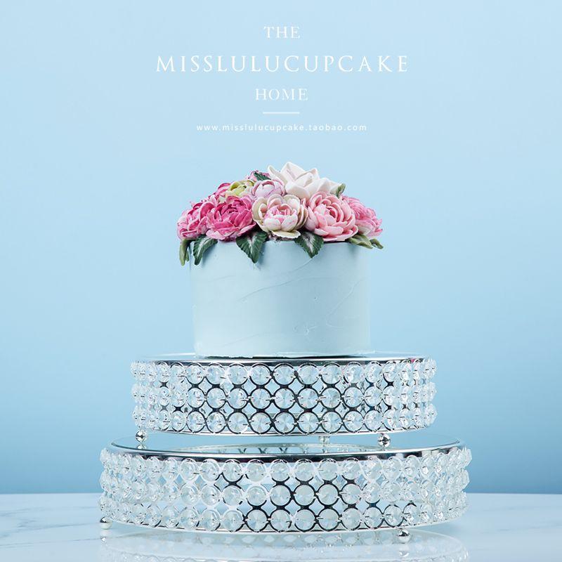 Mirror fruit plate cake rack cake tray cosmetics jewelry storage box dessert table decoration