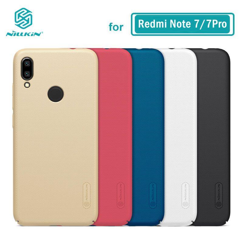 Boîtier Redmi Note 7 boîtier Nillkin givré PC coque arrière rigide pour Xiaomi Redmi Note 7 Pro 7S 8 8Pro 6.3''