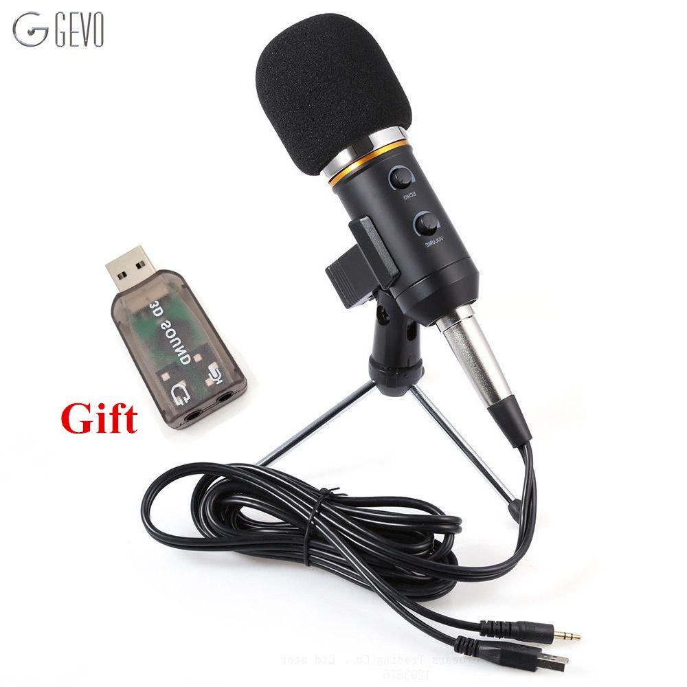 MK-F200FL Professionnel De Poche Microphone À Condensateur USB Ordinateur Microphone Stand Trépied Filaire 3.5mm Jack Pour Studio D'enregistrement