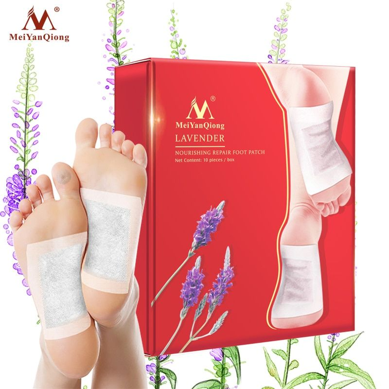 20pcs (10pcs Patches+10pcs Adhesives) MeiYanQiong Lavender Detox Foot Patches Pads Slimming body foot Patches