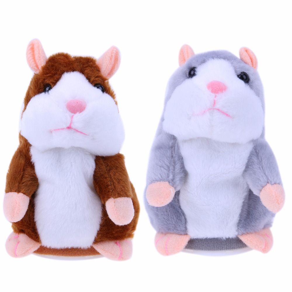 Lindo juguete de peluche de hámster hablando sonido encantador record hablando muñeca animal talking hamster educativo muñeca regalo de juguete